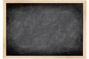 quadro-negro vazio com moldura de madeira