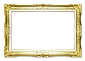ouro molduras antigas. isolado em fundo branco