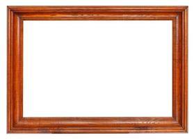 porta-retratos simples de madeira marrom escuro