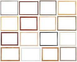 conjunto de 16 molduras estreitas de madeira