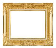 moldura de ouro. isolado sobre fundo branco