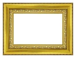 imagem vintage ouro e moldura isolada