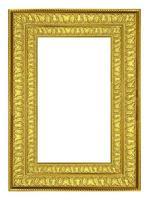 moldura de ouro. isolado no fundo branco foto