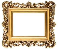 moldura dourada vintage isolada no branco