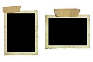 fotos antigas com fita adesiva sobre branco
