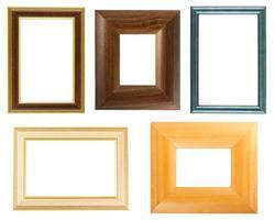coleção de molduras de madeira