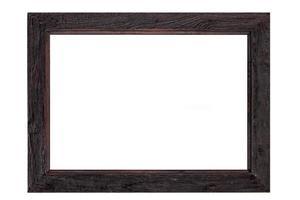 moldura de madeira é isolada no branco