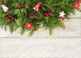 decoração de árvore de abeto para o natal foto