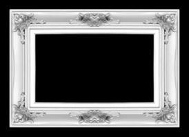porta-retratos antigos de prata. isolado em fundo preto