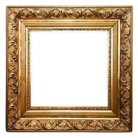 moldura antiga dourada, quadrada, isolada (traçados de recorte incluídos)