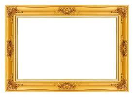 ouro molduras antigas do vintage. isolado em fundo branco