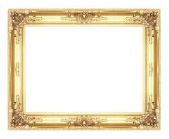 velhas molduras de ouro antigas. isolado em fundo branco