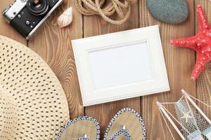 porta-retratos e itens de viagens e férias