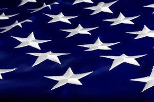 estrela americana bandeira nacional close up foto