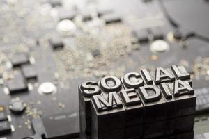 social media & blog icon por letterpress foto