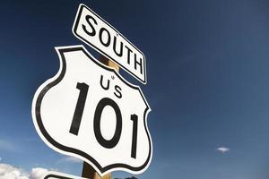 sinalização de rodovia us 101 foto