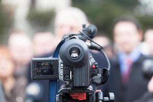 cobrindo um evento com uma câmera de vídeo