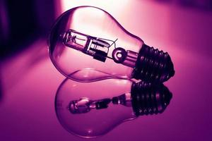refelção de lâmpada