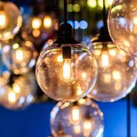 bela decoração de iluminação