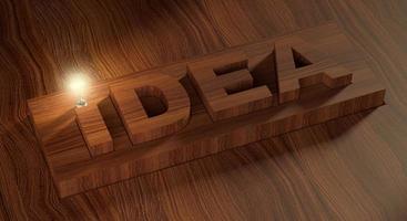 a ideia e a lâmpada