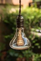 decoração de iluminação vintage foto