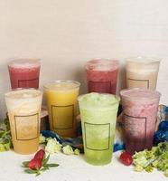 bebidas de frutas congeladas foto