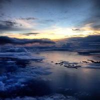 vista incrível do céu. foto