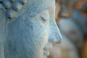 rosto de Buda. foto