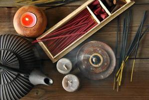 vários tipos de incenso