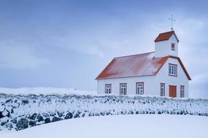 igreja rural, islândia foto