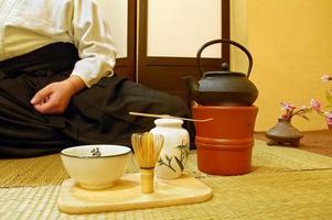 cerimônia do chá japonês foto