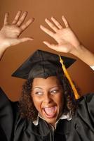 graduado alegre foto