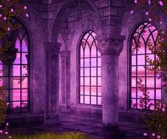cenário de fantasia do interior do castelo