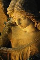 anjo dourado à luz do sol (estátua antiga)