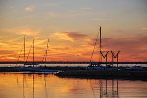 noite no pequeno porto foto