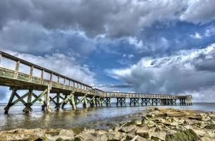 cais de pesca chesapeake bay foto