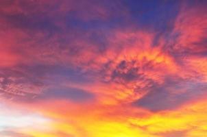 fundo colorido horizontal do pôr do sol
