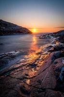 mar do norte, ilha de sotra, condado de bergen, noruega.