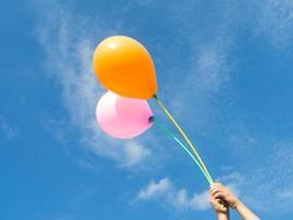 balões no céu foto