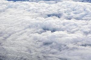 nuvens de avião