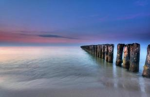crepúsculo no mar Báltico foto