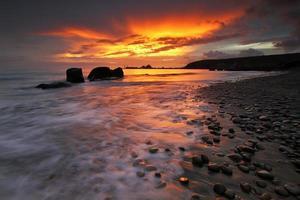 pôr do sol em Gran Canaria foto