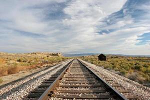 trilhos do trem do meio-oeste foto