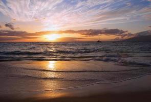 pôr do sol em maui, havaí