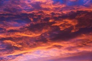 Wolken abends foto