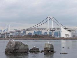 ponte de arco-íris e rochas foto