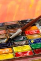 paleta de aquarela