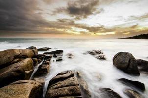 mar de longa exposição foto