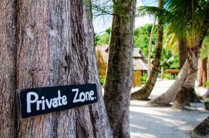 placa de zona privada para acesso restrito