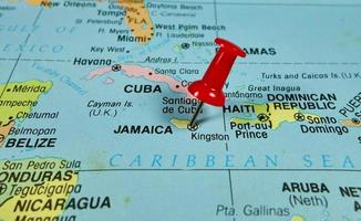 mapa da jamaica foto